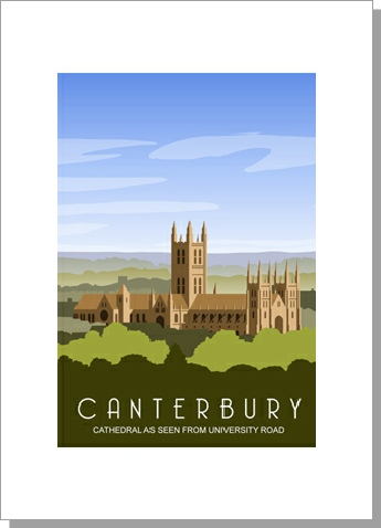 Canterbury Cathedral from the University Road in the day time, portrait