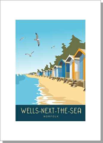 Wells Beach Huts, Portrait