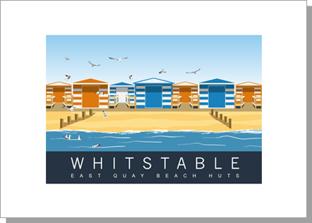 Whitstable East Quay Beach Huts